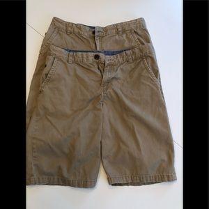 Set of 2 Cat & Jack Uniform Khaki Shorts Size 16